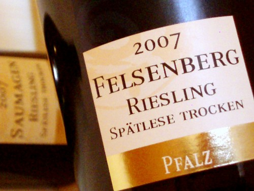 2007 Riesling Spätlese trocken Felsenberg von Jens Bühler