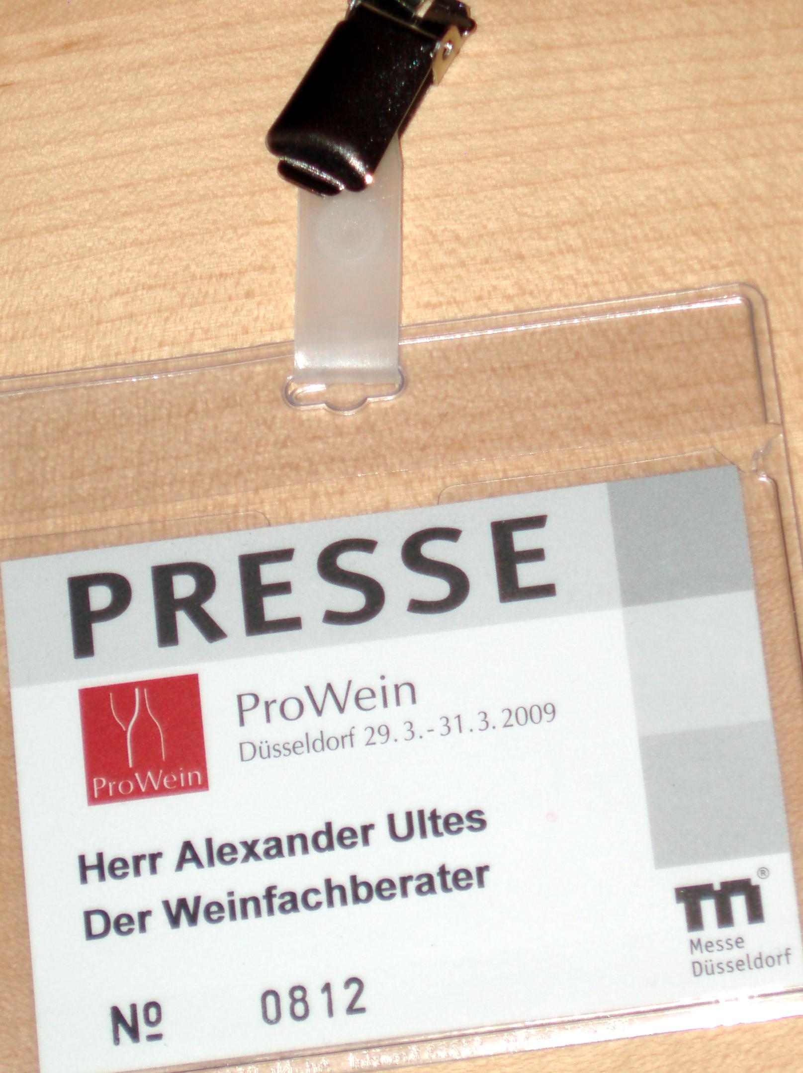 Presseausweis: Weinfachberater | der Ultes