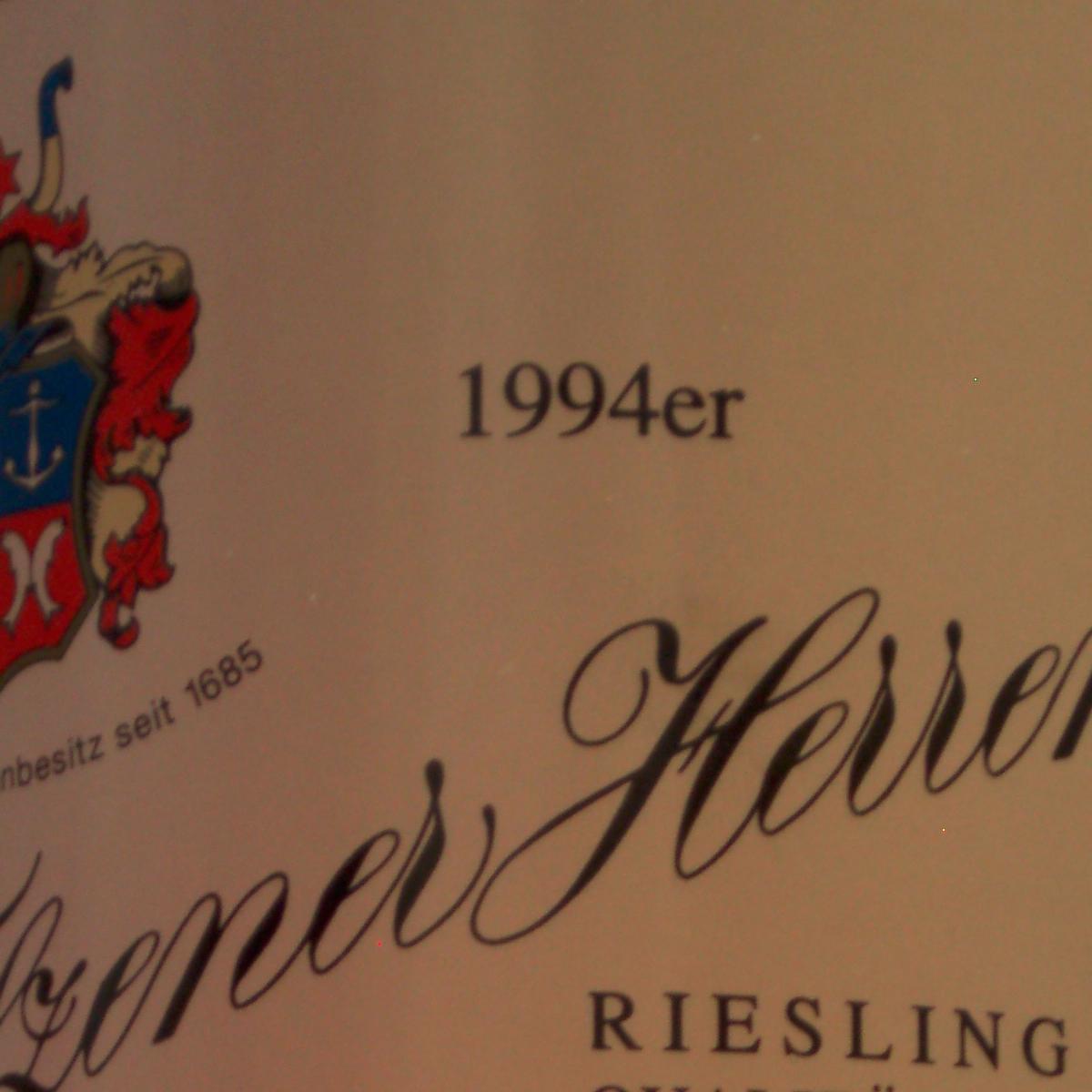 1994 Filzener Herrenberg Riesling Spätlese Weingut Reverchon - thumb