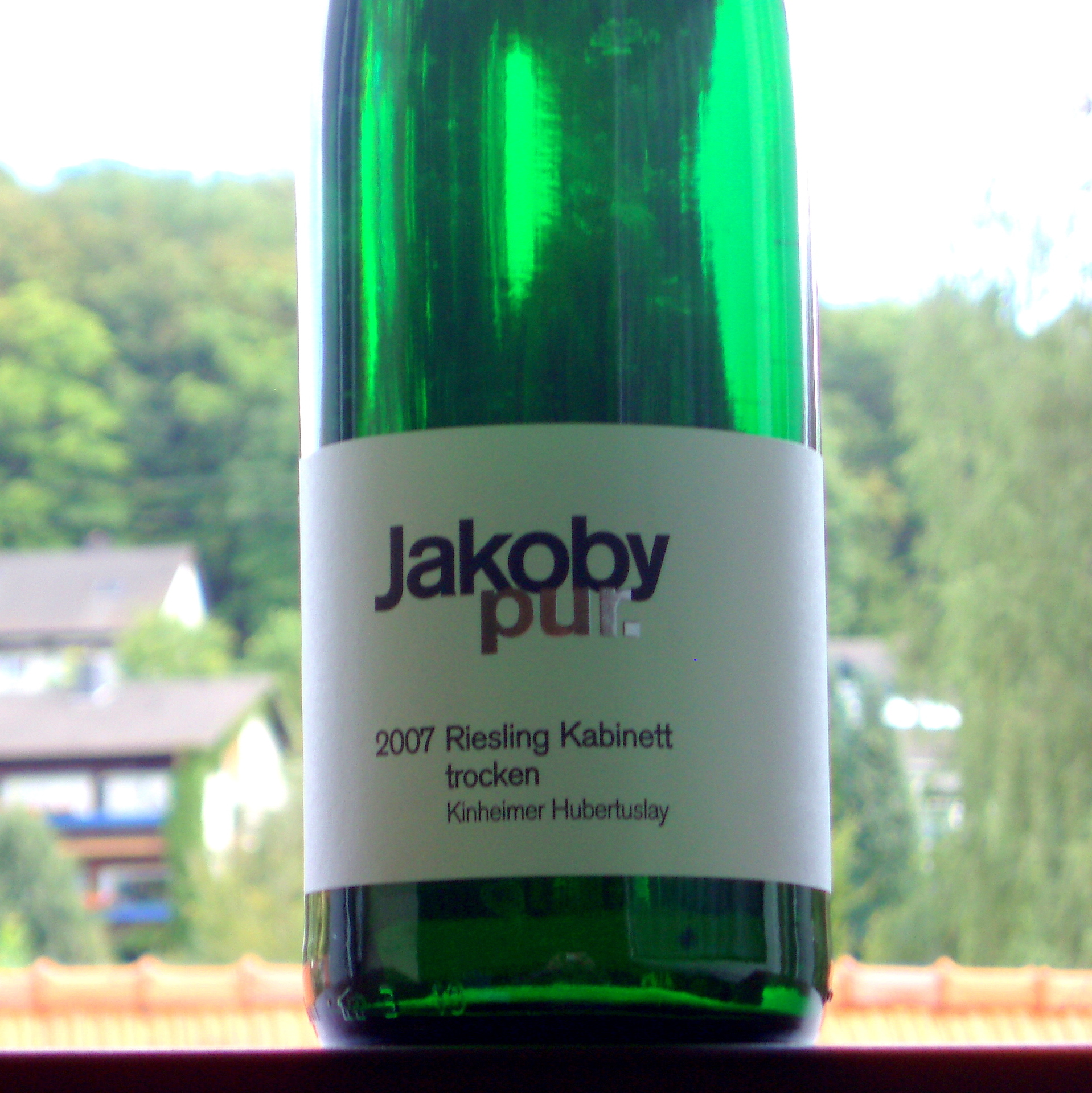 2007 Riesling Kabinett trocken Kinheimer Hubertuslay Jakoby pur