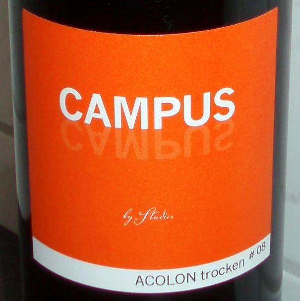 2008 Acolon trocken Campus Weingut Studier Ellerstadt thumb