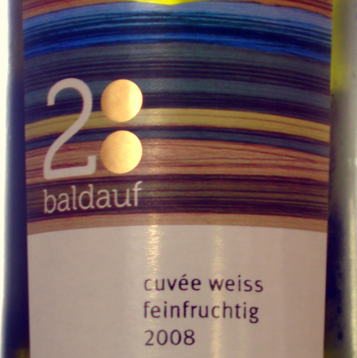 2008 Baldauf Cuvee weiss feinfruchtig thumb