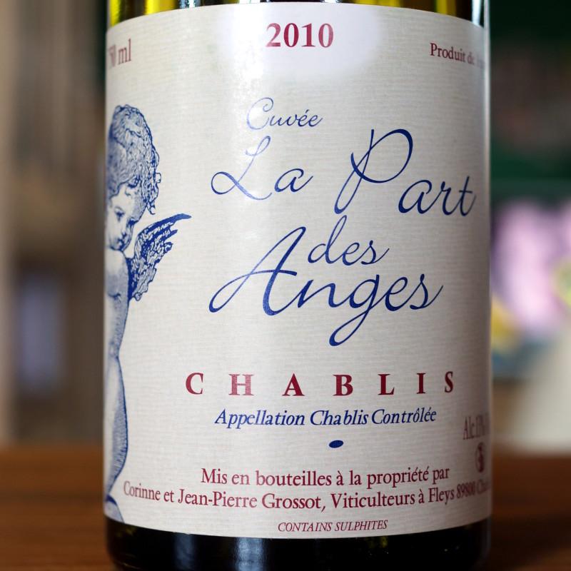 2010 Chablis La Part des Anges, Grossot