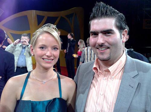 Sonja Christ und Alexander Ultes nach ihrer Wahl zur Deutschen Weinkönigin 2009/2010