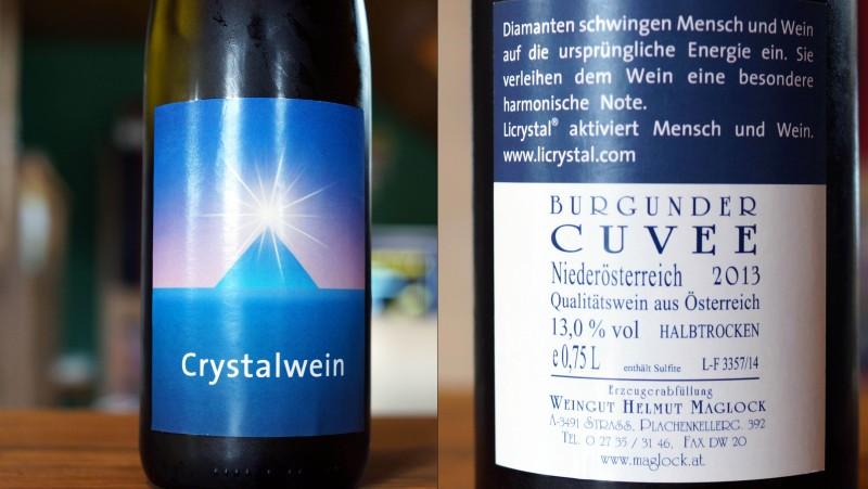 2013 Burgundercuvée Crystalwein halbtrocken, Weingut Helmut Maglock, Strass in Niederösterreich