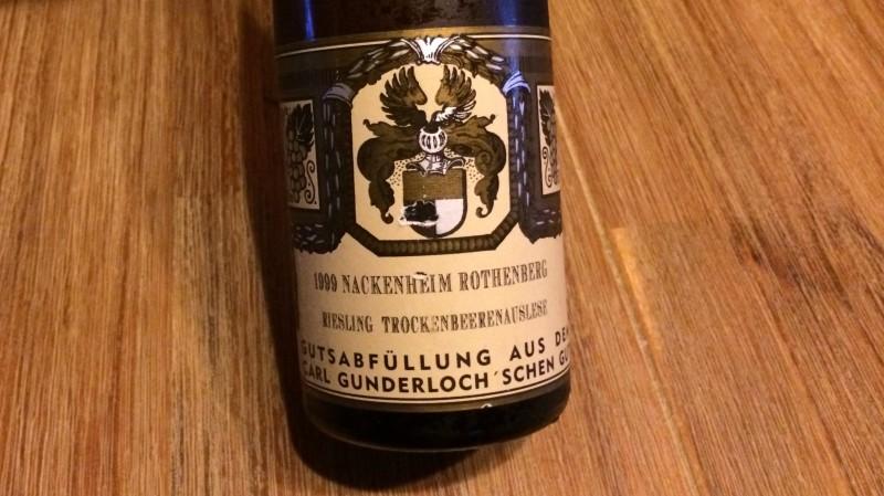 1999 Nackenheimer Rothenberg Riesling Trockenbeerenauslese, Weingut Gunderloch