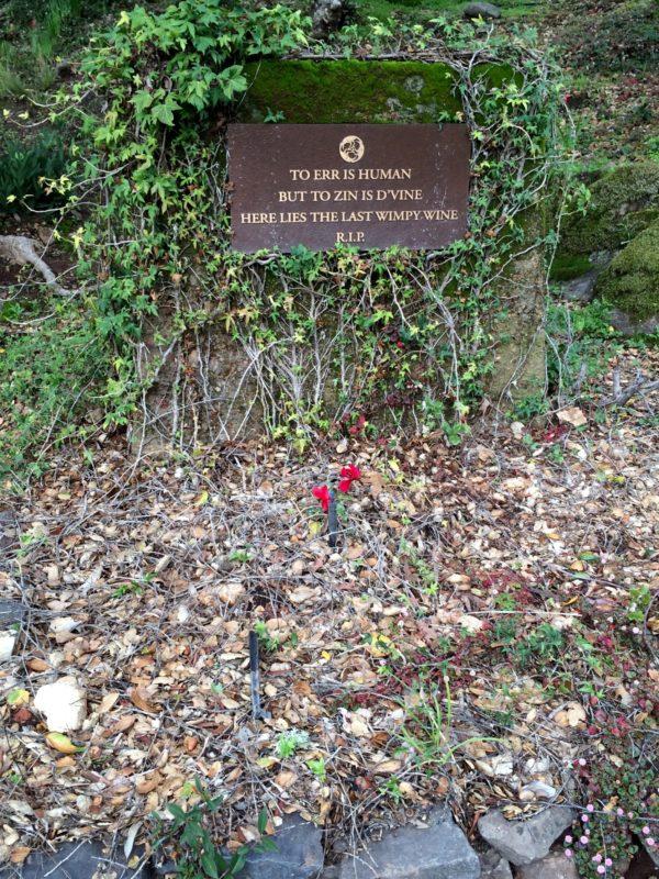 Ravenswood Winery - hier liegt die letzte Flasche Wimpy Wine begraben!