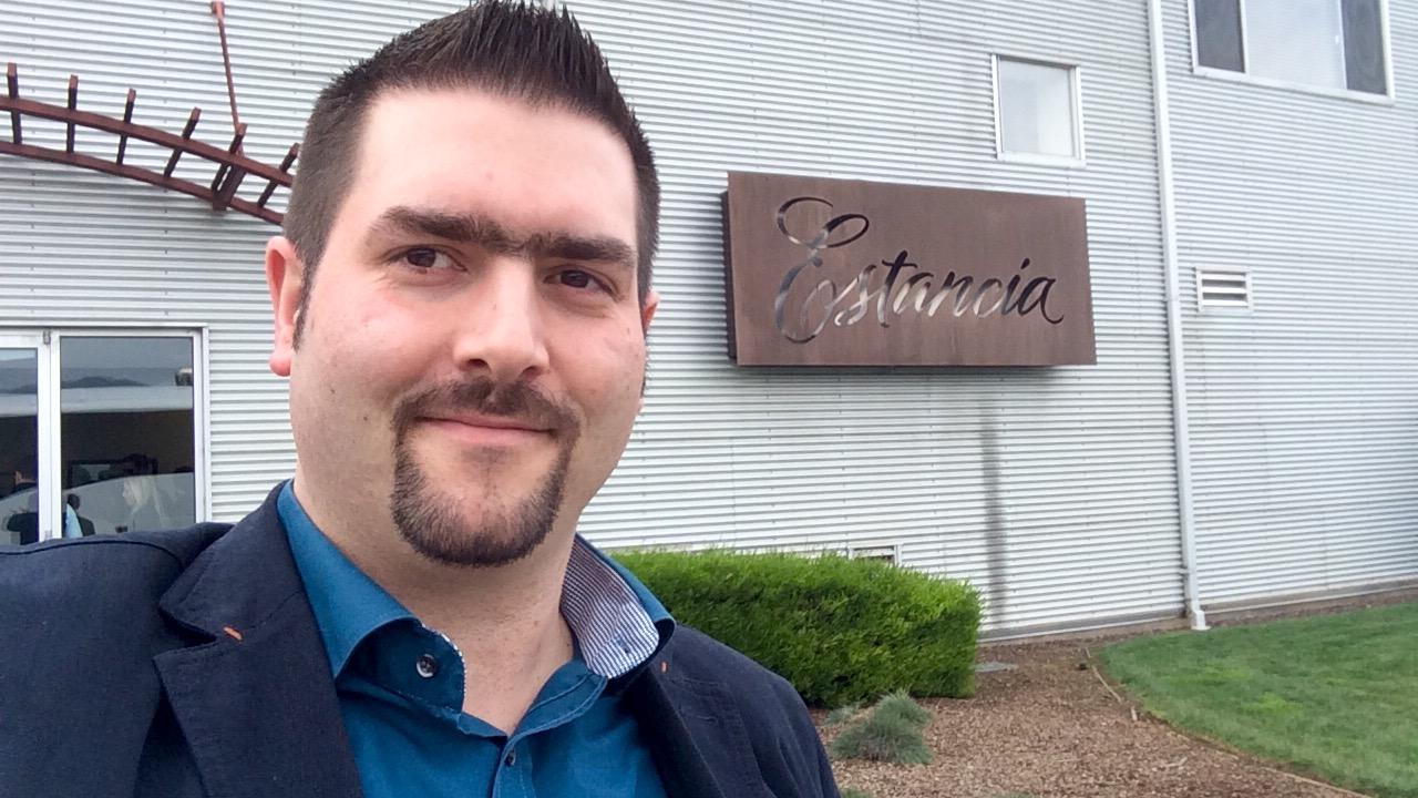 Alexander Ultes an der Estancia Winery bei Soledad in der Monterey AVA, Kalifornien (USA)