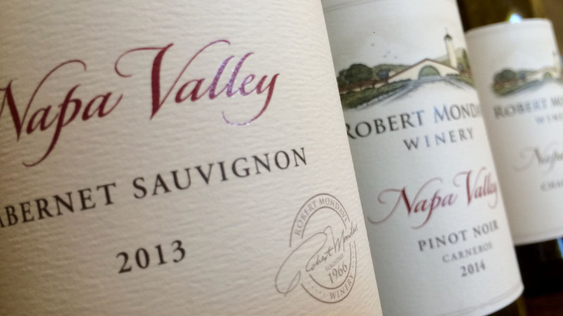 Cabernet Sauvignon, Pinot Noir und Chardonnay der Robert Mondavi Winery